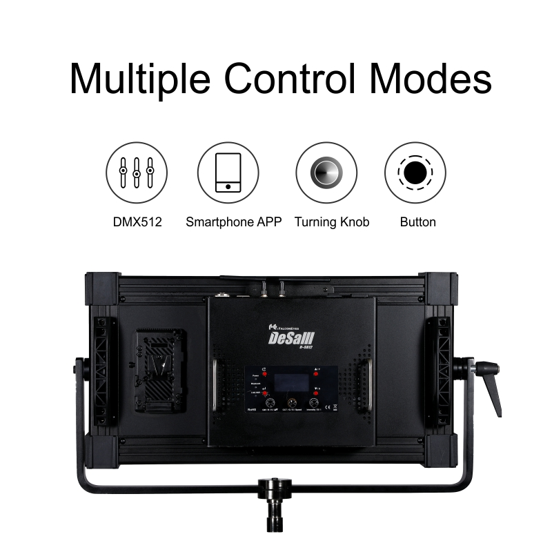 Falcon Eyes 400W RGB LED Video Fotografia Light Support Bluetooth APP Control 8 Scene Modes Continuous Lighting Lamp DS 812 in Photographic Lighting from Consumer Electronics