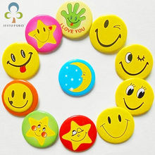 6 pcs/lot Smiley Face Badge Parent-child Pin Baby Cartoon Cute Decoration School Bag Decoration LXX(China)