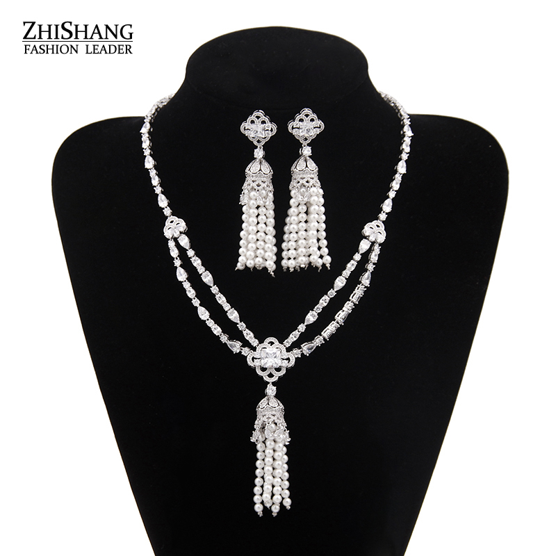 Luxury African Beads Jewelry Set 2016 For Women Vintage Jewelry Sets Necklace And Earring Set For Brides WS016 vintage alloy engraved beads anklet for women