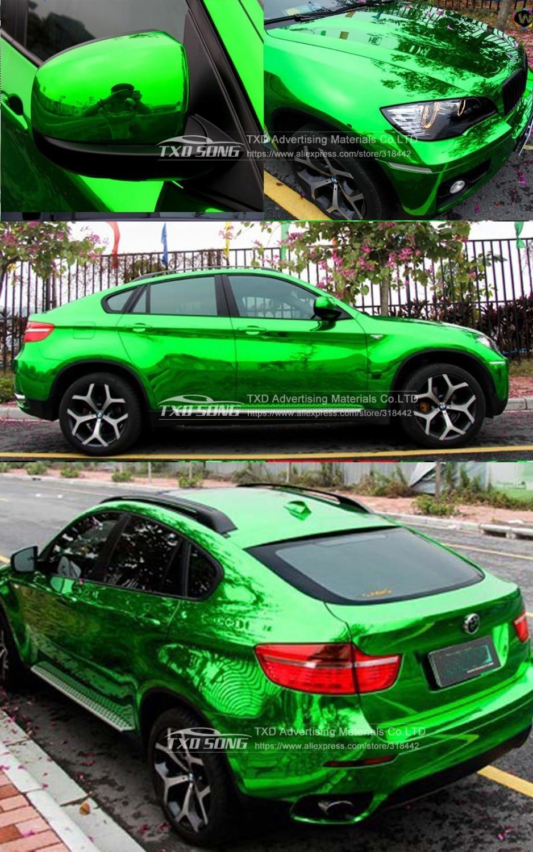 Image 5 - Новейшее высокое растяжимое зеркало зеленое хромированное зеркало гибкий виниловый оберточный лист рулон клеящеяся пленка для автомобиля виниловая самоклеящаяся пленка-in Наклейки на автомобиль from Автомобили и мотоциклы