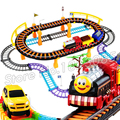 55pcs 2016 Hot Selling Thomas and Friends Electric Rail Car Track Diecast For Kids Thomas Trains Children Gifts Railway Toys