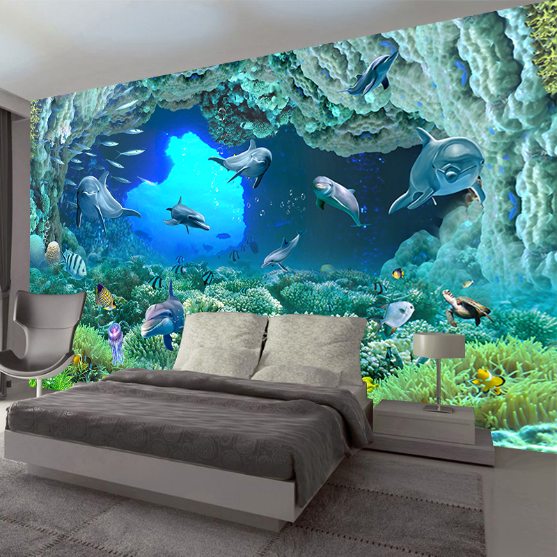 JiaSheMeiJu Custom 3D Photo Wallpapers For Living Room Seefloor Sencery Papel De Parede 3D Wall Mural Wallpaper For Modern WallJiaSheMeiJu Custom 3D Photo Wallpapers For Living Room Seefloor Sencery Papel De Parede 3D Wall Mural Wallpaper For Modern Wall