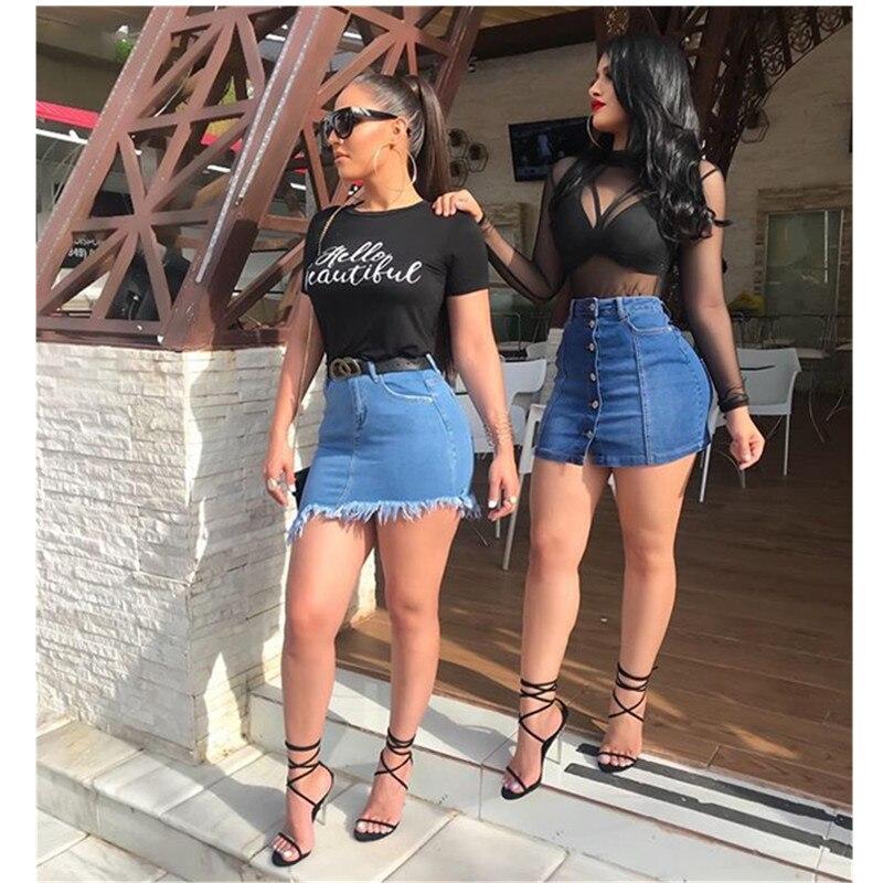 Summer hot skirt new high waist women's   jeans   casual skirt pants Slim sexy   jeans   fashion women's denim skirt women's culottes