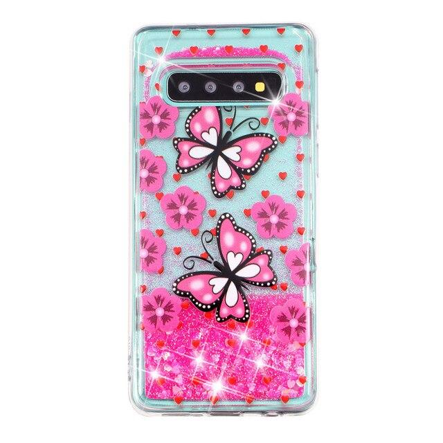 KDTONG Case sFor Samsung Galaxy S10E S10 Plus Case Glitter Liquid Soft Silicone Cover For Samsung Galaxy S10 S 10 Case Cover 1