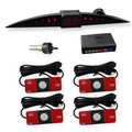 Original Flat Parking Sensor Kit with 4 Pcs Reversing Radar Sensors with Slim LED Monitor Car Parking Aid System SW 068F