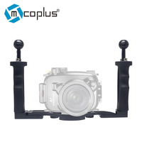 Mcoplus Dual Handle Aluminium Tray Stabilizer Rig for Underwater Camera Housing Case Diving for GoPro Canon Nikon Sony Fujifilm