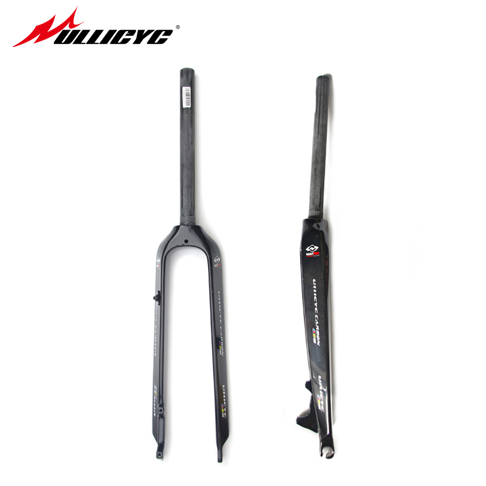 Newest 26/ 27.5 inch Mountain bike full carbon front fork MTB bicycle disc brake carbon fork 26er/ 27.5er Free ship  QC533 newest raceface next sl road bike ud full carbon fibre saddle spider web mountain bicycle front seat mat mtb parts free shipping