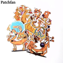 Patchfan 14pcs Catdog stickers for DIY scrapbooking Laptop Skateboard Motorcycle Home Decoration Car wall sticker badges A2007
