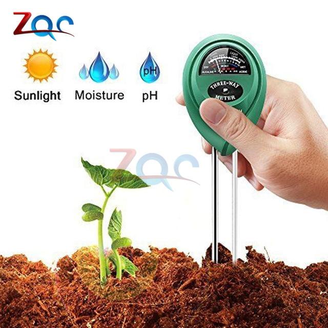 3 in 1 Soil PH Water Moisture Meter Acidity Humidity Sunlight Garden Plants Flowers Moist Tester Instrument Tool