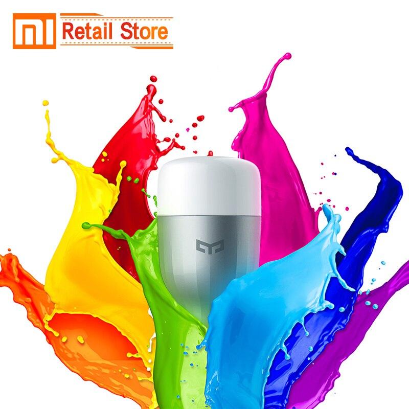 imágenes para Original Xiaomi Yeelight Azul II LLEVÓ la Bombilla Inteligente (Color) E27 9 W 600 Lúmenes Luz Mi Teléfono Inteligente WiFi Control Remoto Casa Inteligente