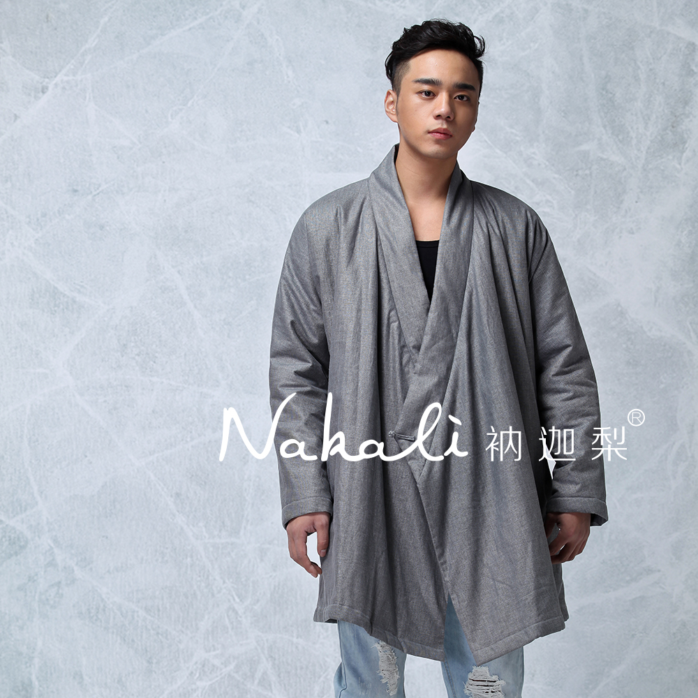 Mens Casual Long Coat Parkas Jacket 100% Cotton Chinese Traditional Style Zen Kung Fu Tai Chi Clothes Nakali Grey N8007 переключатель 1 клавишный наружный дерево 10а quteo
