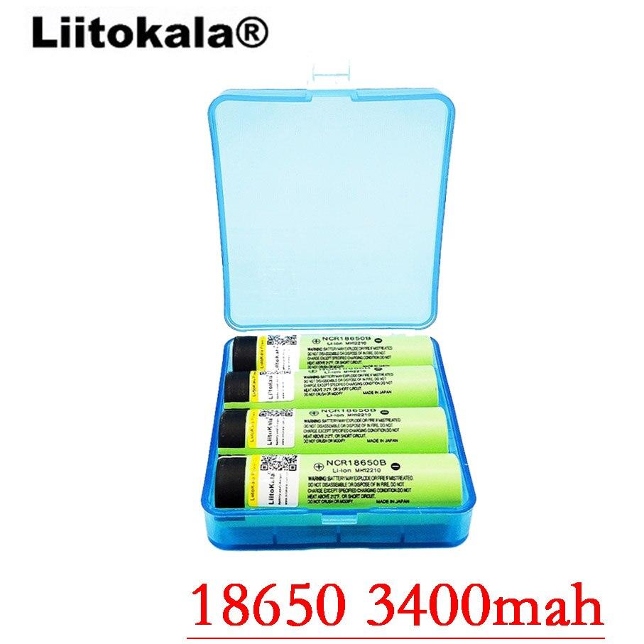 Liitokala 100% Originally 3.7V NCR18650 34B Rechargeable Li-ion Battery 18650 3400mah Battery