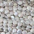 Blanco natural cultivadas granos de la perla de la moneda 14mm pastel redondo fit necklacce pulsera fabricación de la joyería 15 inch B1353
