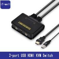 2-port USB HDMI KVMสวิท