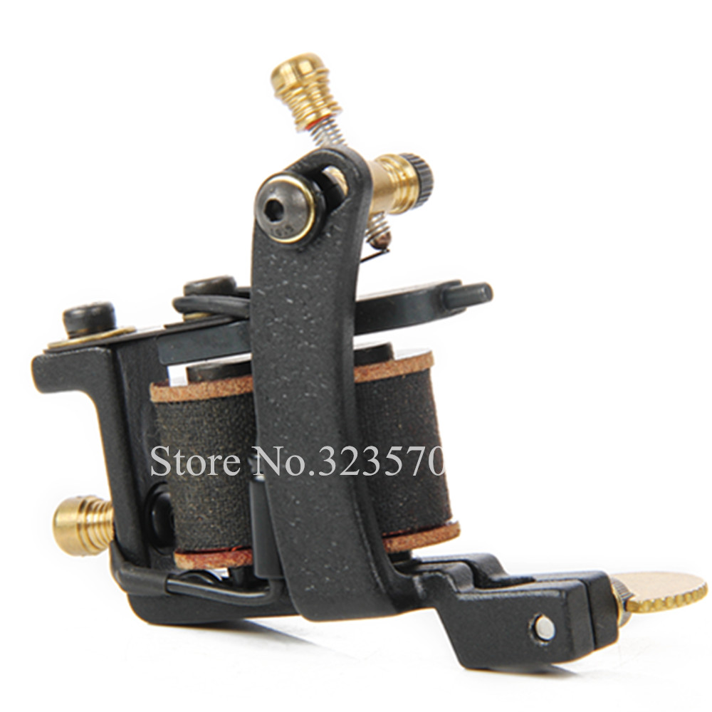 Professional Cast Iron Handmade Tattoo Machine Gun 8 Wrap Coils Tattoo Machine For Liner -- HTM-1002L 8 wrap coils iron electric tattoo machine gun liner