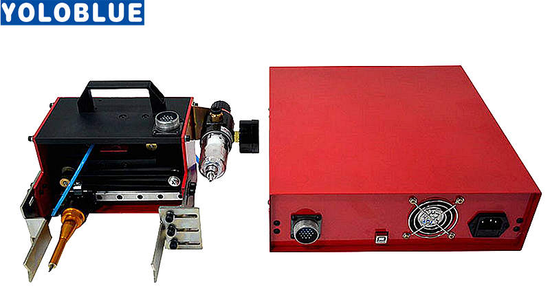 Tools : Portable Metal Pneumatic Dot Peen Marking Machine For VIN Code 100 20mm  Frame Marking Machine chassis number 220V 110V