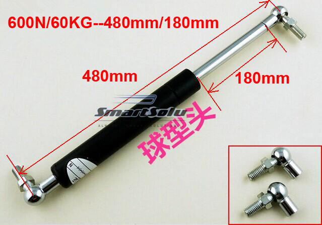 free shipping 60KG/600N force 480mm central distance, 180mm stroke, pneumatic Auto Gas Spring, Shock absorber free shipping 60kg 600n force 280mm central distance 80 mm stroke pneumatic auto gas spring lift prop gas spring damper