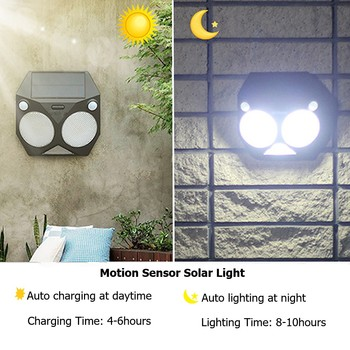 Ousam LED Solar Al Aire Libre De La Luz Del Sensor De Movimiento De La Lámpara RGB Dual PIR Impermeable Super Brillante De Seguridad De Jardín De Luz Solar Para Patio Patio