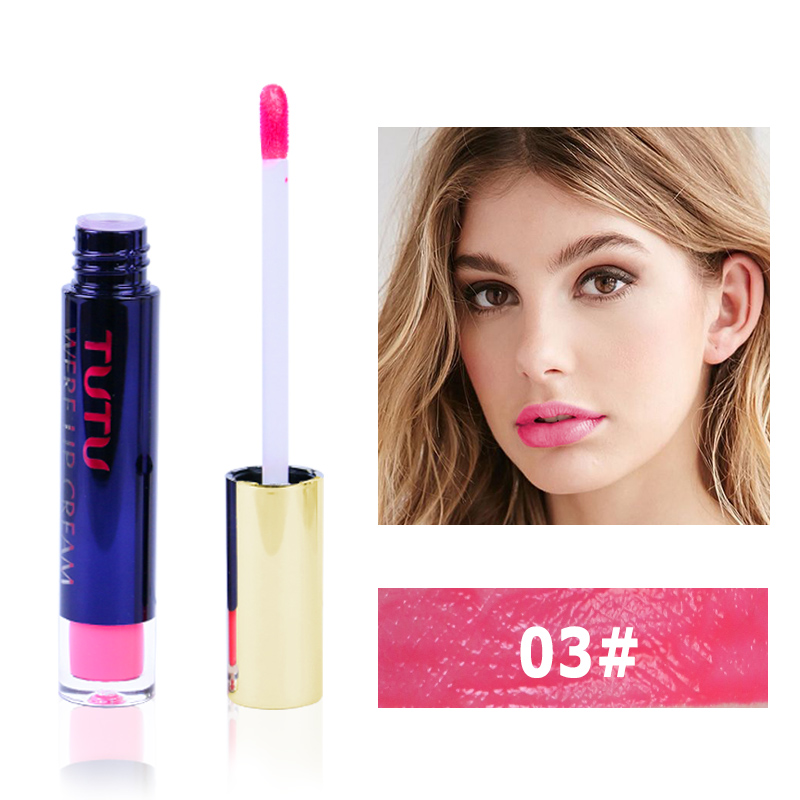 Professional Lip Makeup Matte Lip Gloss Velvet Red Lipstick Liquid Tint Waterproof Moisturizer Full Color Lip Gloss Set Make up 2