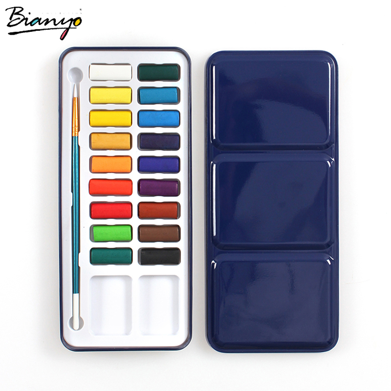 Bianyo Solid Watercolor Paints - 12, 18 or 24 colors 2