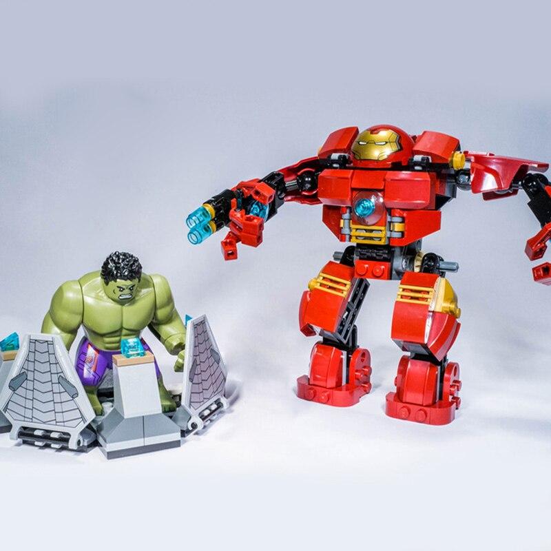 7110 New Super Heroes Avengers Building Blocks 76031 Ultron Iron Man Hulk Buster Bricks Creative Toy For Children Gift LEPINE