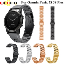 20mm Watch Band Metal Stainless Steel Bracelet Band Strap For Garmin Fenix5S Fenix 5S Plus Fleje de acero inoxidable Wristband