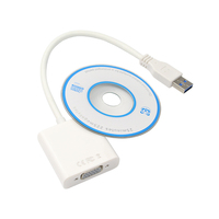 High Quality USB 3 0 To VGA Video Graphic Card Display External Cable Adapter USB To