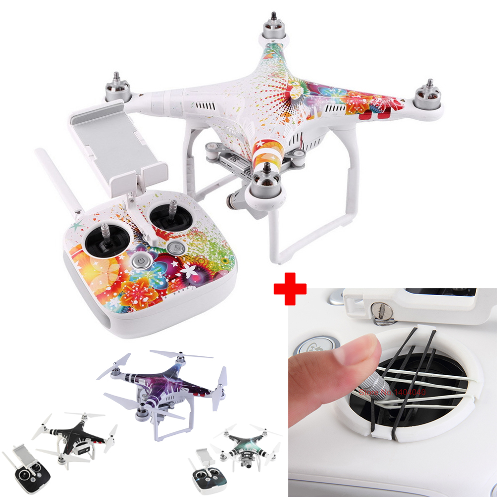 Super Value! DJI Phantom 3 Remote Controller Parts Set: 3D Printing YAW Pitch Controller+PVC Skin Decal Sticker Shell and RC
