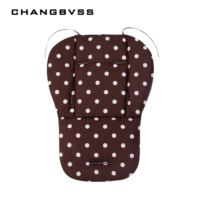 White Dot Baby Stroller Seat Cushion Pad, Infant Stroller Padding Liner Cotton Mat, Child Cart Pushchair Pram Seat Cushion
