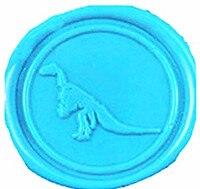 Vintage Cute Dinosaur Picture Logo Wedding Invitation Wax Seal Sealing Stamp Sticks Spoon Gift Box Set