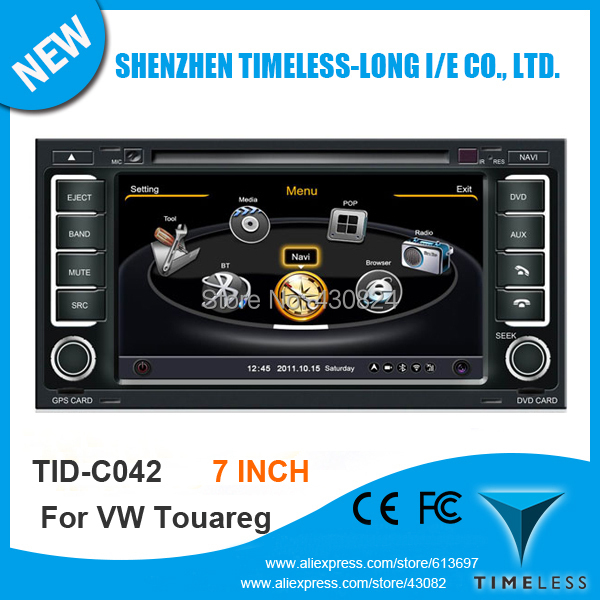 A8 Chipset 3G WiFi 7 Inch Touch Screen Car DVD Volkswagen VW Touareg GPS Navigation Radio BT TV Ipod USB/SD Free Map - Shenzhen Timeless-long NO.2 Store store
