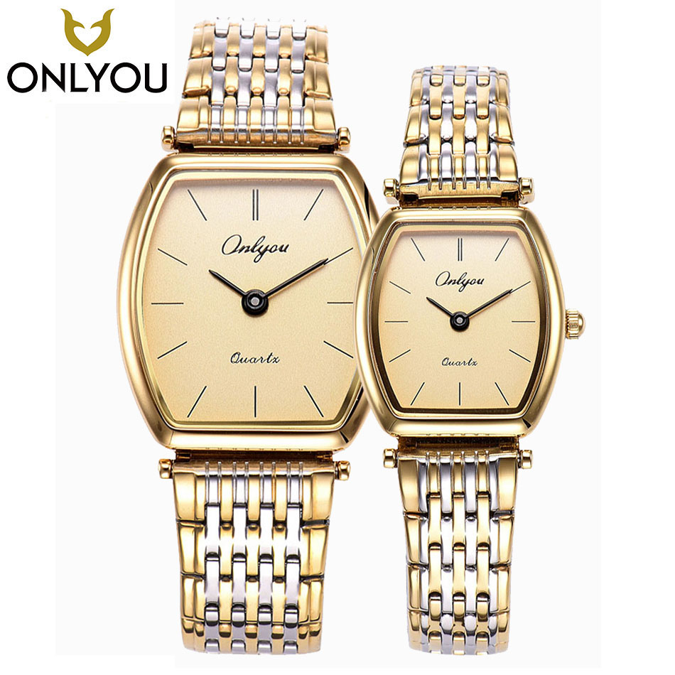 ONLYOU Lovers Watch Women Tonneau Fashion Wristwatch Gift For Men Business Luxury Quartz Clock Ladies Square Waterproof Watches onlyou brand luxury fashion watches women men quartz watch high quality stainless steel wristwatches ladies dress watch 8892