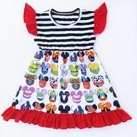 New Fashion Kids Milk Silk Frocks Dress Tunic Design Summer Baby Girl Boutique Girls Print Dresses
