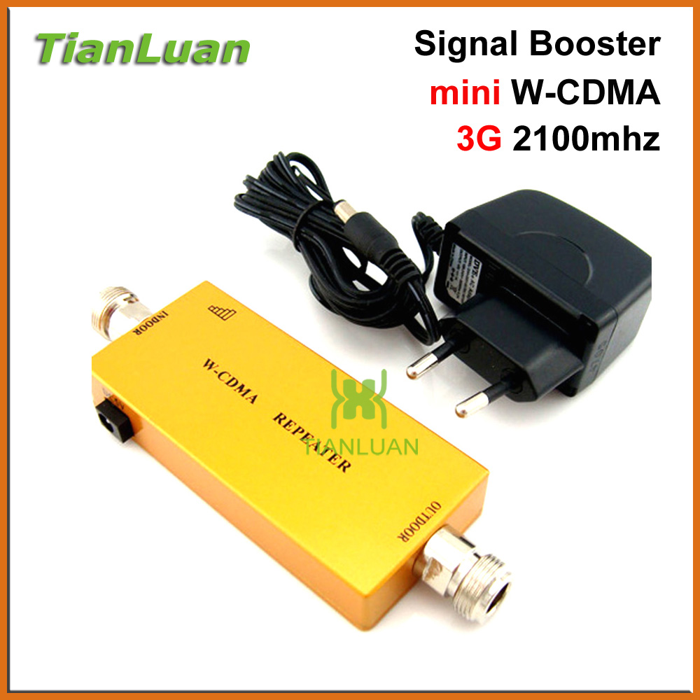 mini 3G W CDMA Repeater Mobile Phone UMTS 3G Signal Booster WCDMA 2100Mhz Cell Phone Signal Repeater Amplifier with Power Supply