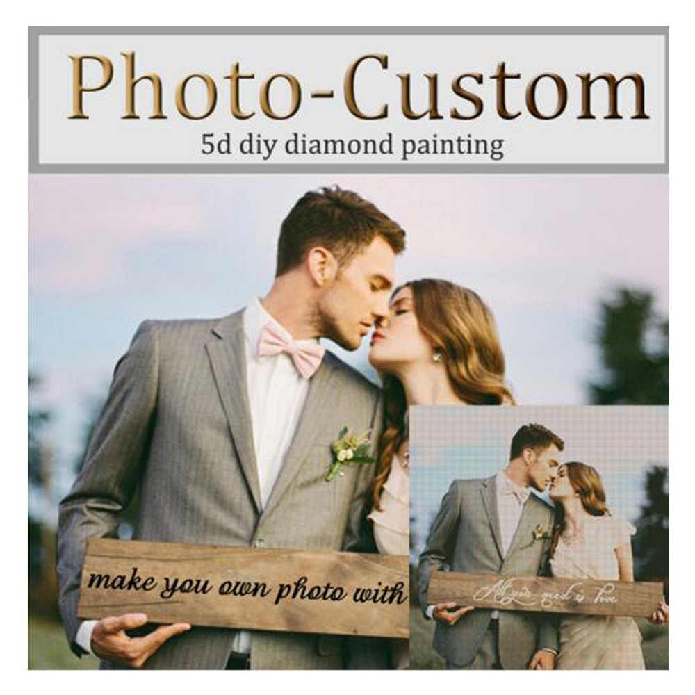 ZOOYA Photo Custom Diamond Embroidery Make Your Own 5D DIY Diamond Painting Cross Stitch Full Square Drill Rhinestone Mosaic AZ1