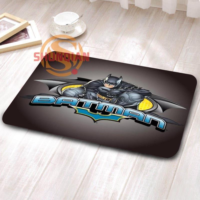 Custom Art Cartoon Batman Doormat Home Decor Living Room Anti Slip Tapete  Rugs H0402tlq56(