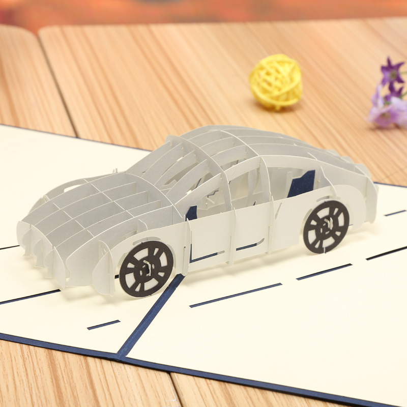 Manufacturers direct selling sports car 3d stereo creative handmade manufacturers direct selling sports car 3d stereo creative handmade greeting cards diy anniversary invitations can be customize in cards invitations from m4hsunfo