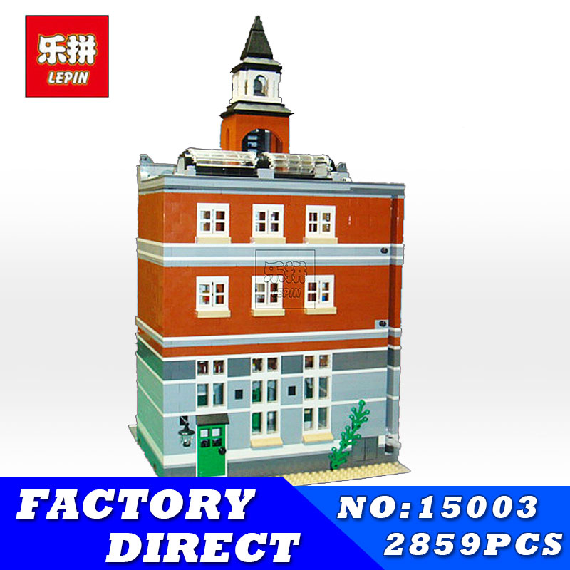 LEPIN 15003 2859Pcs City Street Town Hall Model Building Bricks Creator Kid Toy Compatible Christmas Children Toys Gift lepin15003 2859pcs city series the town hall model building kits blocks kid toy gift compatible with 10224