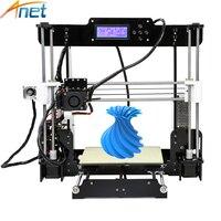 Anet Auto Level&Normal A8 Reprap Prusa I3 DIY 3D Printer Kit High precision Three dimensional 3D Printing LCD Screen 8G SD Card
