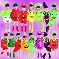 Modelagem de frutas e vegetais de dança dress para meninas meninos moda proteção ambiental das crianças trajes de dança chinesa