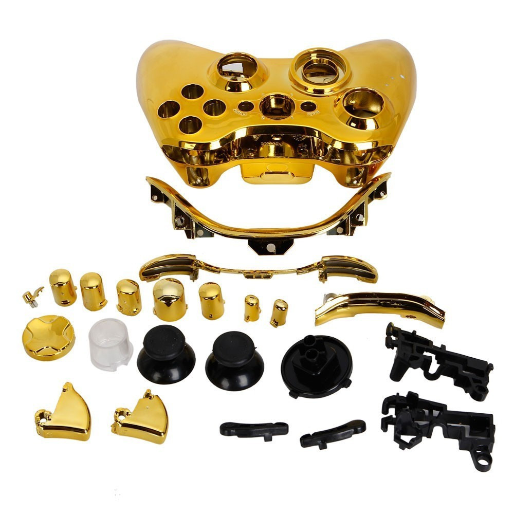 Gold Full Controller Shell Case Housing for Microsoft Xbox ...