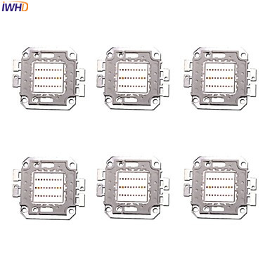 IWHD 6pcs Portable 20W 30W <font><b>LED</b></font> Grow Chip Diode with Full Spectrum 660nm red <font><b>450nm</b></font> Bule for Indoor <font><b>LED</b></font> Grow Light image