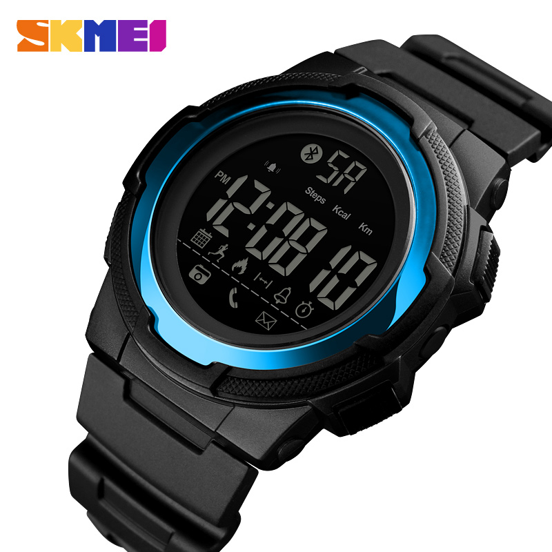 SKMEI Bluetooth Smart Watch Men Luxury Waterproof Call Remind Wristwatch Mens Outdoor Sports Digital Clock Relogio Masculino