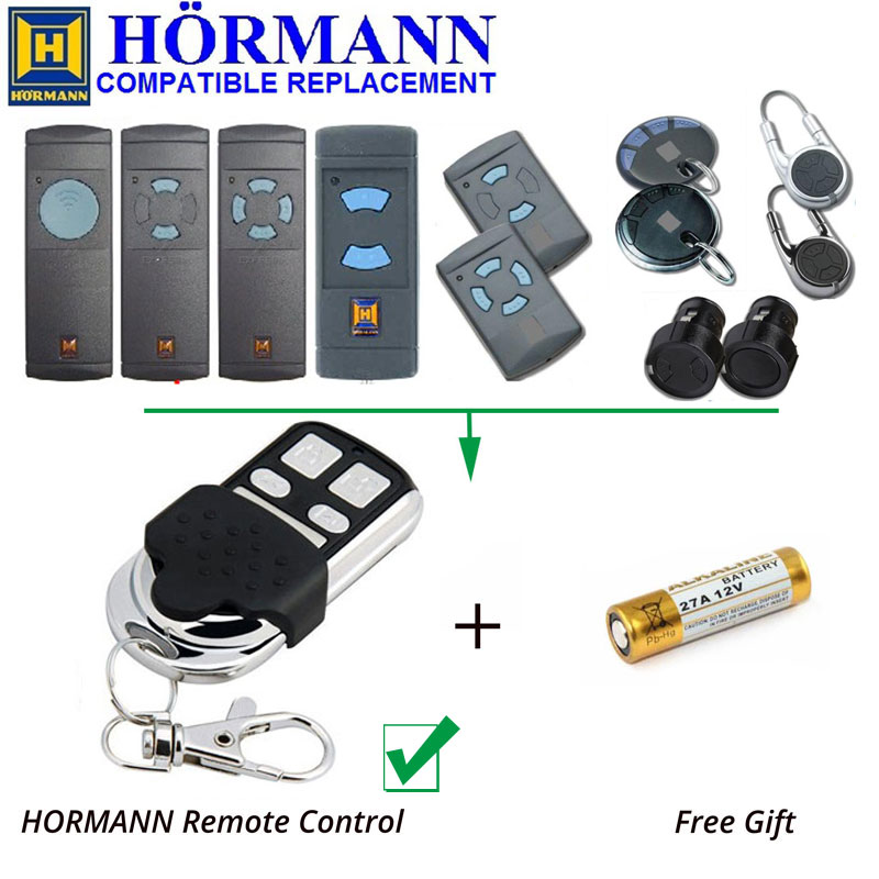 Wholesale 100pcs Hormann HSM2 868,HSM4 Fixed Code Replacement Remote Control Clone/Duplicator 868.3MHz