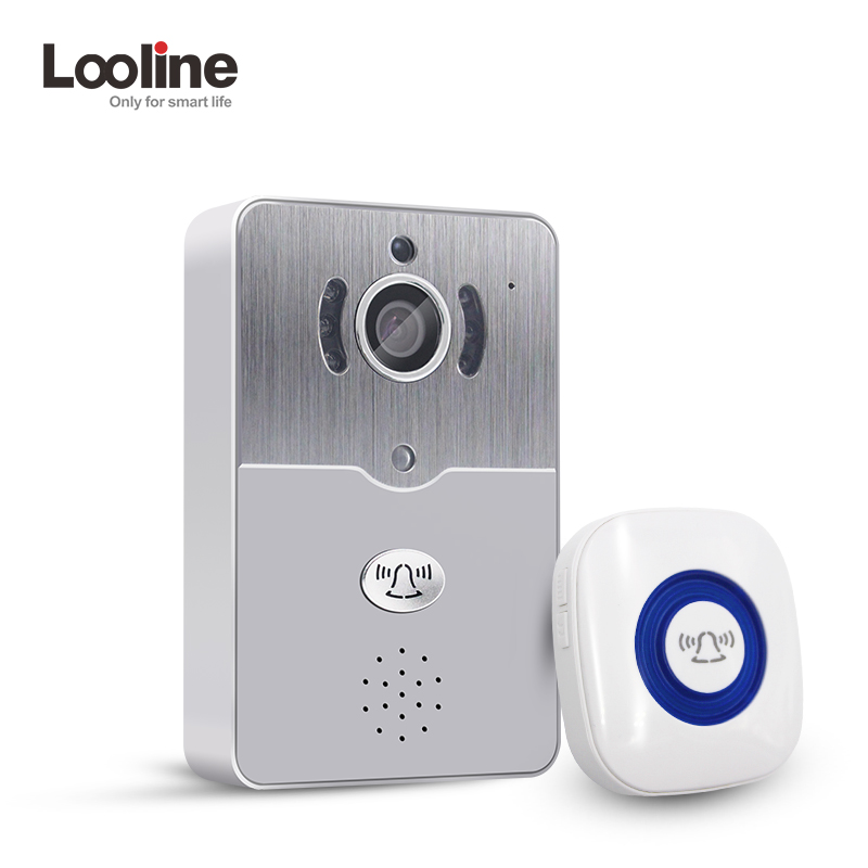 Door Intercom IP Doorbell With 720P Camera Video Phone Night Vision IR Motion Detection Alarm for IOS Android WIFI Doorbell hd 720p wifi doorbell camera with motion detection ir alarm wireless video intercom phone control door phone for andriod ios