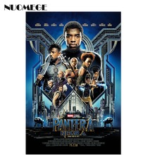 Posters And Prints Black Panther Chadwick Boseman 2018 Movie NEW Art Poster Silk Wall Canvas Painting Print For Home Decor