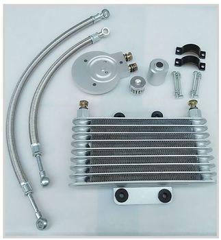 Motorcycle Oil Cooler Oil Engine Radiator SYSTEM FULL SET For LIFAN LF250-B QJIANG QJ250-J YAMAHA XV125 XV250
