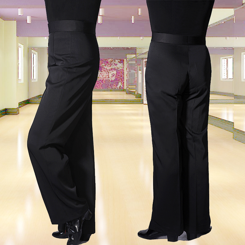 2019 Men Latin Dance Pants Black Trouser Fitness Dancing Clothes Tango Cha Cha Ballroom Dance Wear Adult Male Latin Pant VDB704