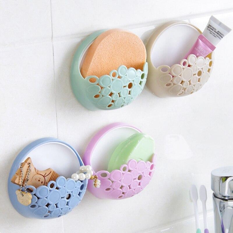 Creative Fashion Powerful Suction Cup Soap Box Bathroom Simple Soap Box Wall-Mounted Drain Soap Holder 2D 7