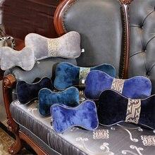 18x40 Top Luxury Lumbar Pillow Cushion Dog Bone Shape Car Seat Filling Head Neck Pillows